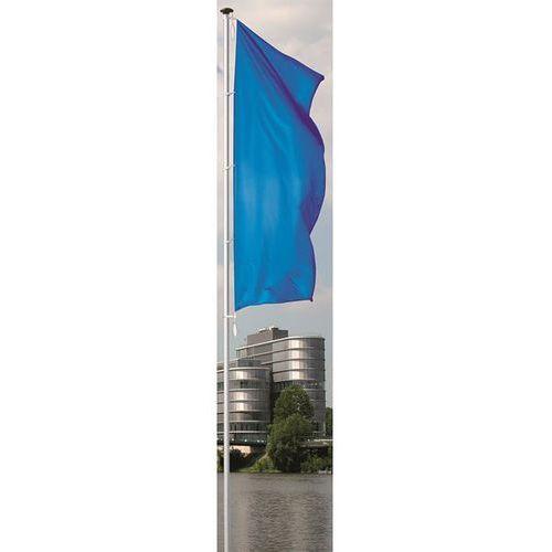 Maszt flagowy z aluminium pirat, bez wysięgnika, wys. nad podłożem 6 m, Ø 75 mm. marki Mannus