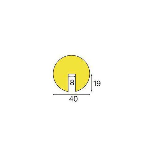 Profil ostrzegawczy i ochronny Knuffi®,długo świecący / czarny, fragment o dł. 1 m