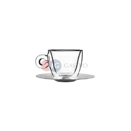 Filiżanka do cappuccino 0,165 l ze spodkiem ze stali nierdzewnej Stalgast 400902, 400902