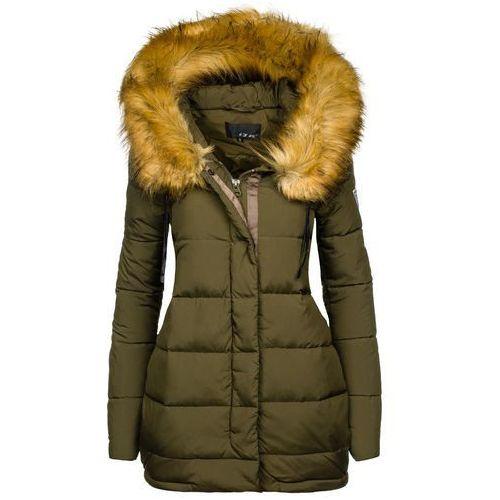 Khaki kurtka zimowa damska Denley 8062 - KHAKI - sprawdź w wybranym sklepie