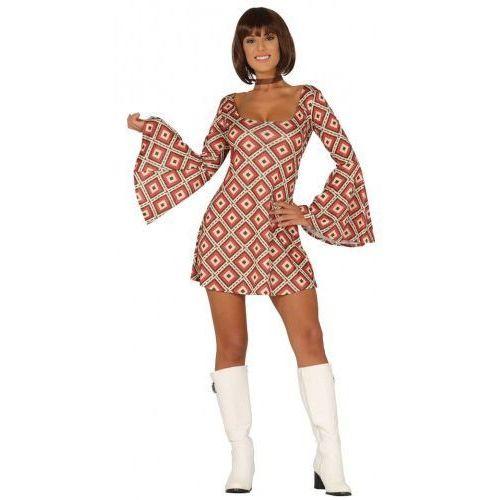 Strój na karnawał dla kobiety szalone lata 70-te - sukienka, Party world