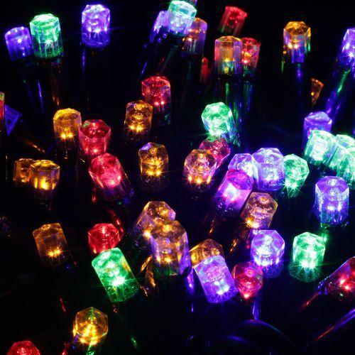 Lampki zewnętrzne 100L z dodatkowym gniazdem, multikolor, 9.9m,  (33-221), marki Bulinex do zakupu w Bank Kabli