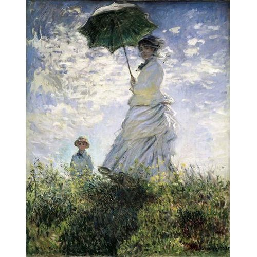obraz Woman with a Parasol - Madame Monet and Her Son 1875 Claude Monet (obraz)