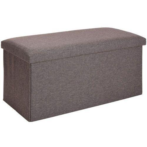 Home styling collection Podłużna pufa, pojemnik z pokrywą - 2 w 1, kolor brązowy (8719202539950)
