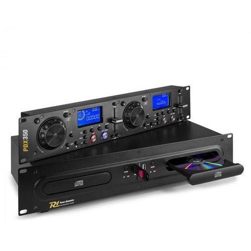 Power dynamics pdx350, podwójny didżejski odtwarzacz/sterownik cd/usb, cd/ usb/ mp3, czarny