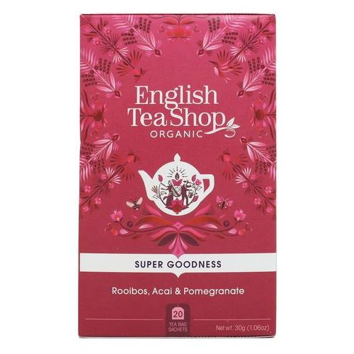 Herbatka ziołowa rooibos, acai i granat 20x1,5 g BIO 30 g English Tea Shop