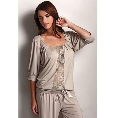 Damska bambusowa piżama SERENA Beżowy L (8680404092218)