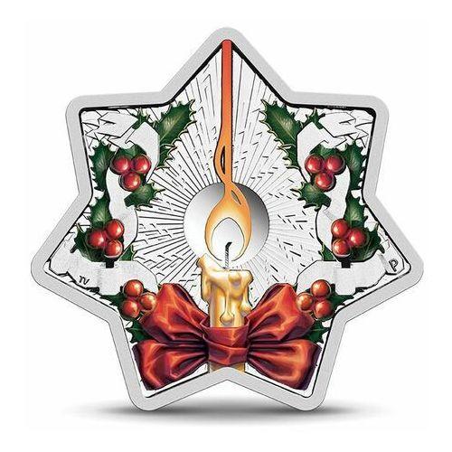 Srebrna moneta gwiazdka na choinkę - świeczka marki Perth mint