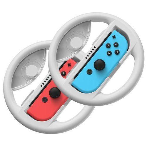 zestaw 2x kierownica do nintendo switch nakładka na joy-con joystick pad szary (gmswb-0g) - szary marki Baseus