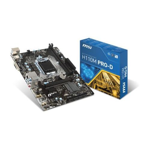 Płyta h110m pro-d /h110/ddr4/sata3/usb3/pcie3.0/s.1151/matx marki Msi