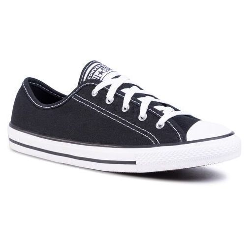 Trampki CONVERSE - Ctas Dainty Ox 564982C Black/White/Black, kolor czarny