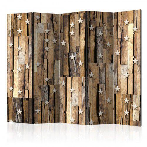 Artgeist Parawan 5-częściowy - drewniany gwiazdozbiór ii [room dividers]