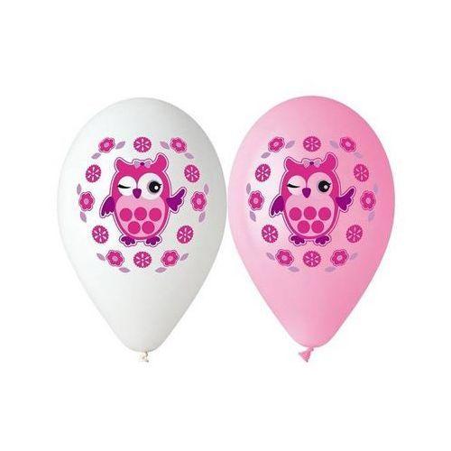 Go Balony pastelowe sowa - 30 cm - 5 szt.