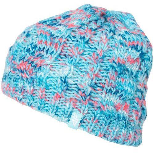 4f Damska zimowa czapka z17 cad006 niebieski melanż l/xl