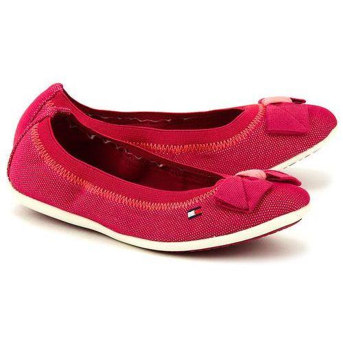 TOMMY HILFIGER Dahlia 19D - Różowe Canvasowe Baleriny Dziecięce - FG56818888 613 - produkt dostępny w MIVO Shoes Shop On-line