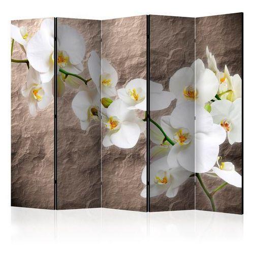Artgeist Parawan 5-częściowy - nieskazitelność orchidei ii [room dividers] bogata chata