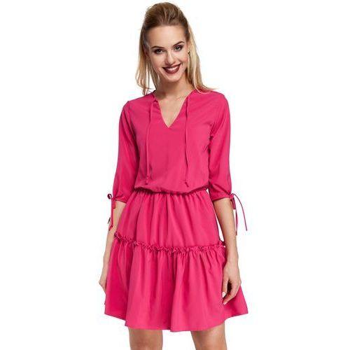 Moe Różowa sukienka w stylu boho