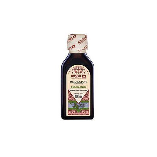 Olej lniany o smaku bazylii tłoczony na zimno OmegaLen® 100 ml