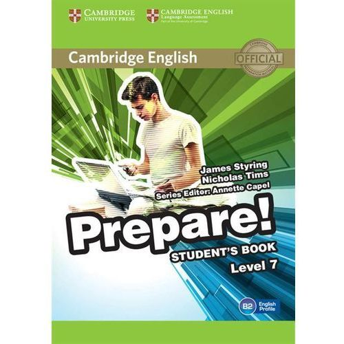 Cambridge English Prepare! Level 7 Student's Book*natychmiastowawysyłkaod3,99 (168 str.)