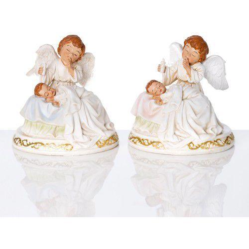 Produkt polski Figura anioł stróż z dzieckiem