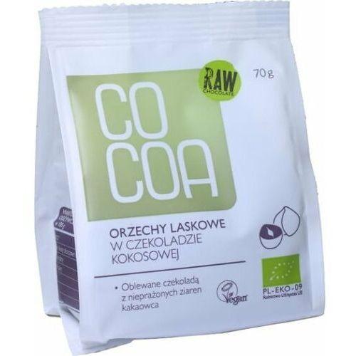025cocoa Orzechy laskowe w surowej czekoladzie kokosowej 70g - cocoa eko
