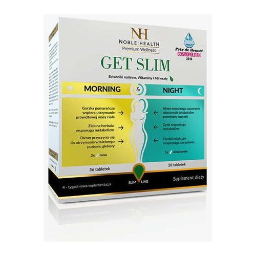 Get slim morning & night (56 tabletek na dzień + 28 tabletek na noc) marki Noble health