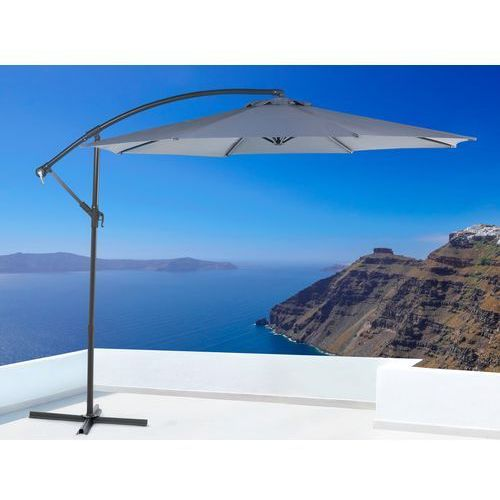 Parasol ogrodowy – antracytowy – ø 293 cm – na wysięgniku – metalowy - RAVENNA - produkt z kategorii- Parasole ogrodowe