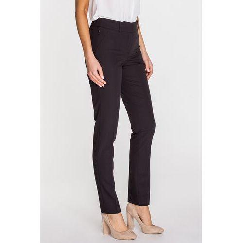 Eleganckie spodnie biurowe z wysokiej jakości tkaniny - Potis & Verso, kolor czarny
