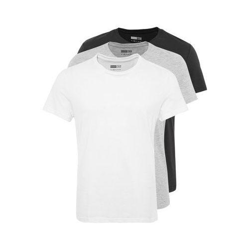 Pier One 3 PACK Tshirt basic white/black/grey od Zalando.pl