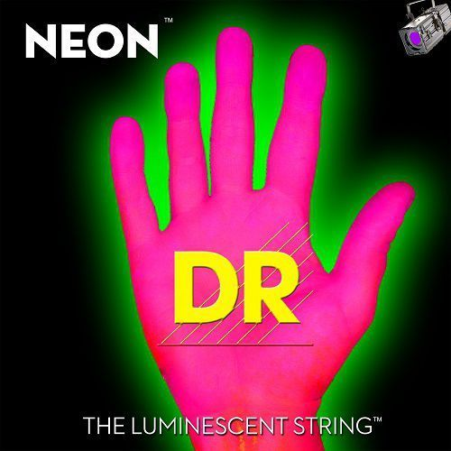 Dr neon hi-def pink - struny do gitary basowej, 6-string, medium,.030-.125