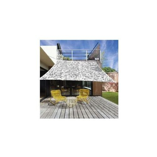 Żagiel przeciwsłoneczny ogrodowy z otworami 3mx3m brązowy dobrebaseny marki Pure garden & living