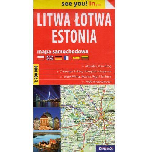Praca zbiorowa. Litwa, Łotwa, Estonia. Mapa samochodowa 1:700 000 (papierowa) (9788380460522)