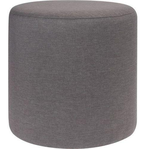 Home styling collection Pufa bawełniana, siedzisko, podnóżek, ciemnoszary - 35 x 35 cm
