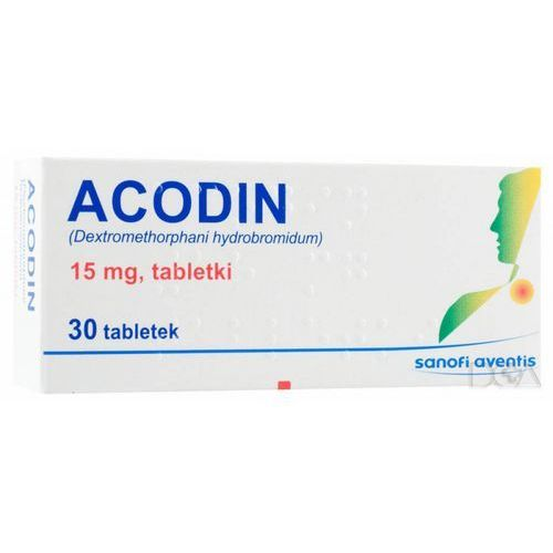 ACODIN 15 mg 30 tabletek (maksymalna ilość w zamówieniu 2 szt.) (na kaszel)