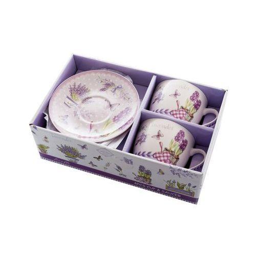 Livello 2 filiżanki z porcelany lawenda na prezent komplet