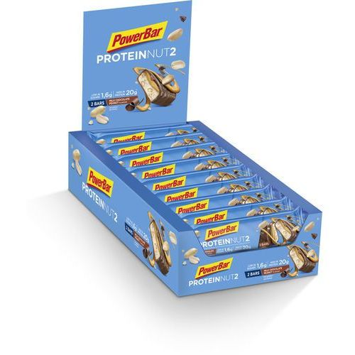 PowerBar Protein Nut 2 Bar Box 18x2x30g, Milk Chocolate Peanut 2019 Batony i wafle