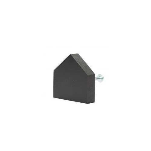 Gałka do mebli domek drewniany (prosty) czarny marki Home-idea