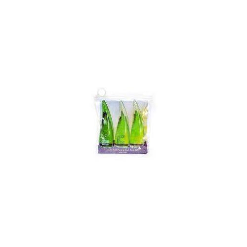 Holika Holika Jeju Aloe, zestaw aloesowych kosmetyków, 3x55ml