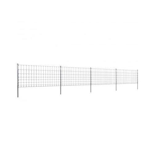 Ocynkowane ogrodzenie ze słupkami, 50 m, 100/8/15 (140721+141103) ze sklepu VidaXL