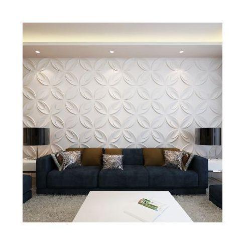 Panel ścienny 3D, kwiaty (0,3 m x 0,3 m) 66 paneli 6m², vidaXL z VidaXL