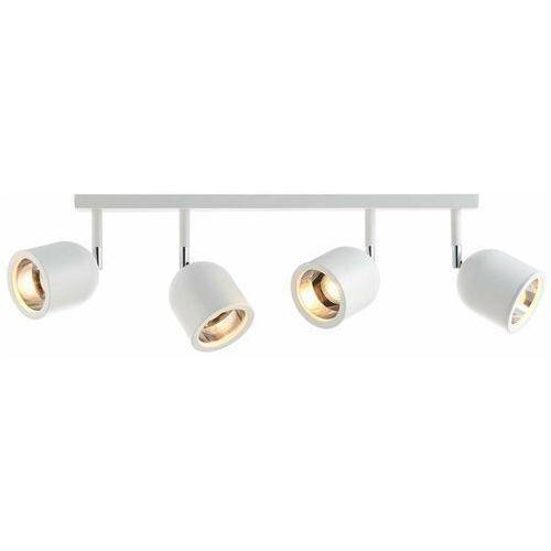 Regulowana LAMPA sufitowa SPARK 50794402 Kaspa reflektorowa OPRAWA metalowy plafon na listwie czarne (5902047304224)
