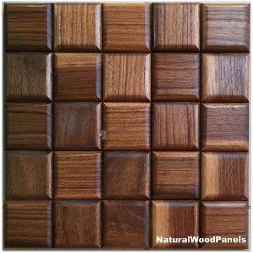 Panele drewniane CHOCO LUXURY series – orzech amerykański - , Natural Wood Panels z Meblobranie.pl