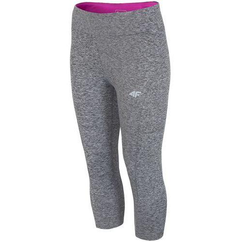 4f Damskie spodnie legginsy sportowe z18 spdf001 szary melanż s