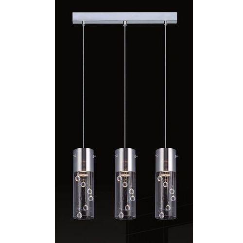 Lampa wisząca Italux Cordell MDM1835-3 z kryształam zwis 3x35W GU10 chrom, MDM1835-3