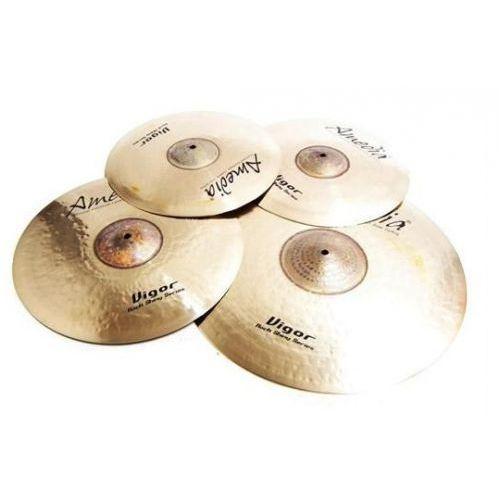Amedia vigor rock shiny set hh14, cr16, r20 +sp8 zestaw talerzy perkusyjnych