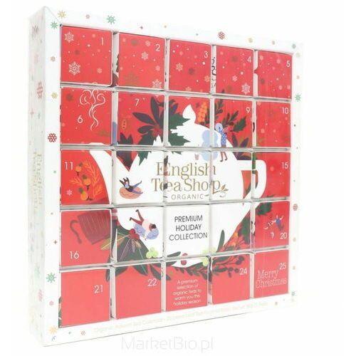 Zestaw herbatek światecznych kalendarz Adwentowy czerwony (25x2) BIO 50 g