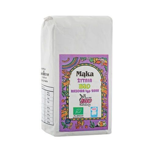 BABALSCY 1kg Mąka żytnia Razowa typ 2000 Bio