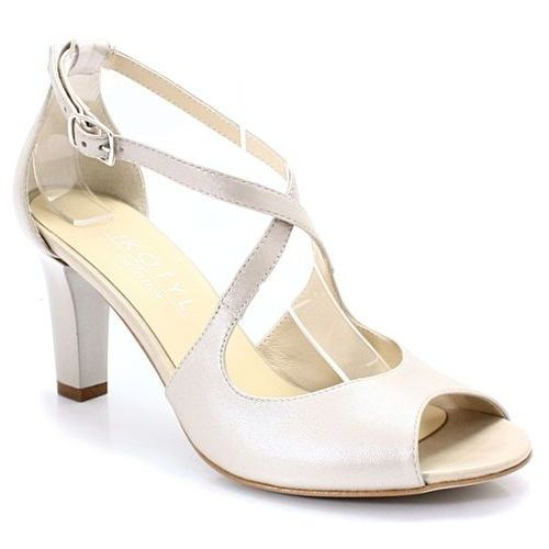 KOTYL 4325 PERŁA LICO - Taneczne sandałki ślub - Beżowy, kolor beżowy