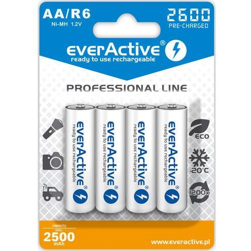 "4x r6/aa ni-mh 2600 mah ready to use ""professional line"" marki Everactive"