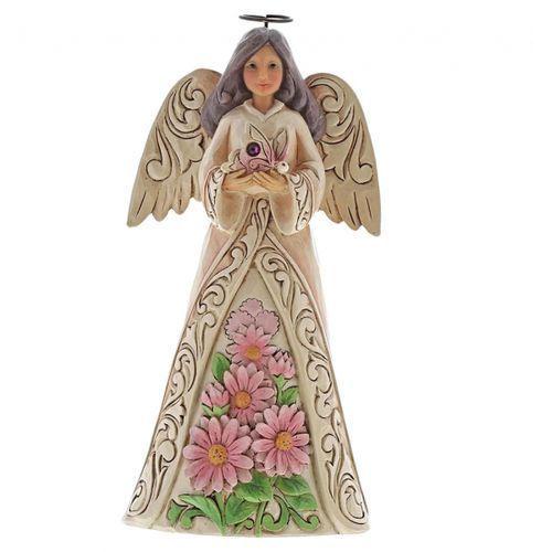 Jim shore Anioł październik monthly angel figurine october angel 6001571 , pamiątka narodzin, chrztu figurka dewocjonalia